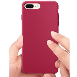 Wholesale Genuine Apple Accessories - eClouds 19 Colors Genuine liquid silicone phone Case protective cover accessories new soft Phone Case for iPhone 8 8plus For 7 7plus