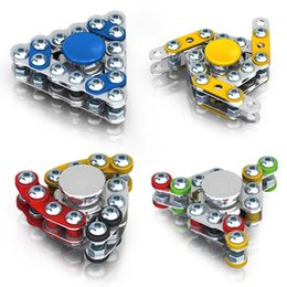 Wholesale Handing Toy - 4-in-1 Metal DIY Fidget Spinners Iron Commanders Detachable SUS Hand Spinner EDC Anti-stress Novelty Fidget Spinner Decompression Toys