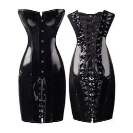 WOMEN S Nero   Rosso Wetlook Latex Gothic Punk Lace Up back Lungo abito  Queen Dress sconti abito gotico nero punk 3fcab9e69ac1