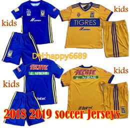 Wholesale Star Boy Shirt - 17 18 kids Mexico club Tigres UANL 5 stars home Tigres UANL soccer Jersey Kits 2017 GIGNAC GUERRON 3RD Away child Football Shirts