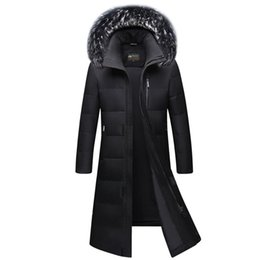 ff17c77c5597d Thick Men s Down Coat Top Quality 90% White Duck Down Jacket with Fur Hood  X-Long Winter Jacket Warm Parkas Overcoat