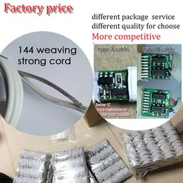 Wholesale usb chips - High quality 1m 3 ft foxconn cable factory chip 3.0OD usb data sync cable fast charge cord with 144 weaving strong cable for smart mobile