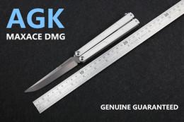 Wholesale Blade Spring - [ AGK ] MAXACE DMG butterfly knife GAUSS LITE VERSION 440C BLADE 420+G10 HANDLE Ceramic BALL BEARING PIVOT SPRING LATCH
