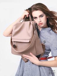 Falten PU Designer Handtaschen 2018 Neue wasserdichte drei Farbe Schultern Bag Medium Sized Lightweight Tote Eleganter Rucksack von Fabrikanten