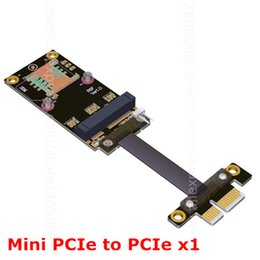 Wholesale Pcie Wireless Cards - Mini PCIe To PCIe PCI-e x1 Adapter Riser Card Wireless network Gen3.0 Cable Extender mPCIe PCI-Express 1x R16SF