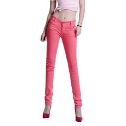 b0d9ae45b17e 2018 Frauen Korean Fashion Stretch Bleistift Hosen Damen Hosen Skinny Candy  Farbe Hosen Plus Größe Frauen Kleidung Sommer