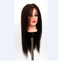 2019 sesso dei modelli sexy Il la cosa migliore Testa di addestramento del salone di parrucchiere 100% fibra di alta temperatura Mannequin delle teste della bambola di cosmetologia dei capelli con il supporto libero della parrucca