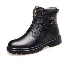 51df311f57 2019 sapatas masculinas do corte elevado Homens Sapatos Outono Inverno  Homens Botas de Moda Estilo Vintage