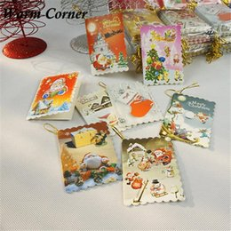 Wholesale Message Flash - Wholesale- Warm Corner 10PCS New Arrivals Small Christmas Greeting Card Flash Powder Christmas Message Elevators Hot Free Shipping Oct 10