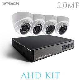 Wholesale Wired Cctv Dome Cameras - AKT2004TQ 4CH CCTV System 1080P HDMI AHD DVR 4PCS 2.0 MP Dome IR Night Vision Security Camera Home Surveillance System Kit