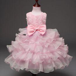 Explosions de commerce extérieur robe pour enfants robe arc robe rose robe princesse jupe fleur enfants usure nouveau style ? partir de fabricateur