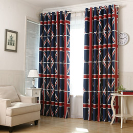Wholesale Printed Curtain Panels - Modern Pattern National Flag Printed Blackout Curtain Drapes Fabric for Kids Room Living Room Door Window Panel for Window Treatment