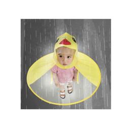1pc pvc bambino giallo anatra divertente pioggia cap ombrello bambino bambino adulto ombrello pieghevole pesca impermeabile mantello da