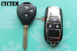 Wholesale Toyota Camry Car Key Blanks - CYCTEM Car Key Blank Cover 3 Buttons Flip Folding Remote Key Shell Fob Case Replacement Fit For Toyota Camry
