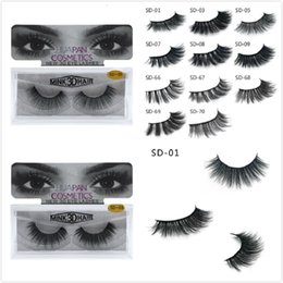 Wholesale Sexy Extensions - New 3D Mink Eyelashes Eyelashes Messy Eye lash Extension Sexy Eyelash Full Strip Eye Lashes