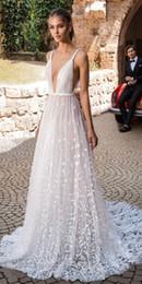сделать фото черный белый Скидка Elihav Sasson A-Line свадебные платья 2019 спагетти 3D цветочные аппликации Sexy Backless Beach свадебные платья развертки поезд плюс размер свадебные Dres
