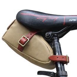 Tela di bicicletta online-Borsa da sella per bicicletta Tourbon Borsa da sella per bicicletta Borsa per telefono cellulare in tela marrone Accessori per biciclette Attrezzatura per bici