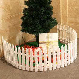 recinzione in miniatura Sconti Picchetto di plastica bianca Miniature Home Garden Natale Xmas Tree Decorazione della festa nuziale (25 pezzi) Y18102909