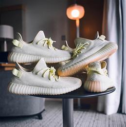 Wholesale boot designer - Designer Sneakers Butter 350 V2 Boots Mens Running Shoes Kanye West SPLY-350 Beluga2.0 Blue Tint Beluga V2 size 14