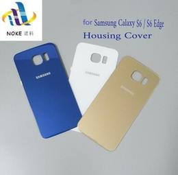 vidrio trasero galaxy s6 Rebajas Alta calidad para Samsung Galaxy S6 S6edge Parte posterior de la cubierta de la batería de vidrio Reemplazo de la carcasa para SAMSUNG GALAXY G920F G925F
