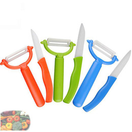 Wholesale Chinese Ceramic Tools - 100% Ceramic kitchen tools fruit knife with peeler
