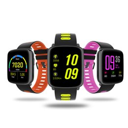 Reloj de pulsera de seguimiento online-GV68 Bluetooth reloj de pulsera inteligente BLE 4.0 a prueba de agua IPS 1.22 pantalla grande reloj de seguimiento de fitness