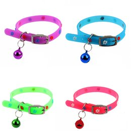Wholesale Elastic Cat Collars - New Super Soft Silicone Dog Collar with Bells Adjustable Elastic Cat Dog Collars For Small Medium Kitten Puppy Pet Products