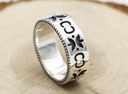 Japón y Corea del Sur salvaje s925 anillo de flor de plata esterlina anillo de plata tailandés retro fresco femenino dulce estudiante tendencia joyería desde fabricantes