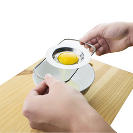 Wholesale cooking funnel - Stainless Steel Egg Separator Yolk Filter Egg Cooking Divider Telescopic Egg Gadgets Separating Funnel Kitchen Tools NNA342