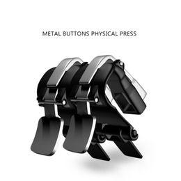 S4-tasten online-s4 mobile auslöser schießen mobile spiel metall knöpfe joystick körperliche touch presse controller L1r1 für pubg überlebensregeln 240pair / lot