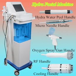 Wholesale Clean Cool - Hydra microdermabrasion Machine 5 In 1 RF BIO Cooling Oxygen Hydro Facial clean Dermabrasion Machine Water replenishing to skin