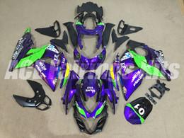 Wholesale Gsxr Fairing Purple - Fairing Kits For K9 09-14 SUZUKI GSX-R1000 GSX R1000 2009 2010 2011 2012 2013 2014 GSXR 1000 09 10 11 12 13 14 GSXR1000 purple green