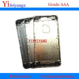 100% Une qualité de couverture arrière logement pour iPhone 6 6G 6 plus en aluminium en métal Retour couvercle de la porte de la batterie avec bouton latéral Plateau de la carte Sim ? partir de fabricateur