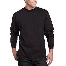 stilvolle männer t-shirts Rabatt Herren New Slim Shirt Langarm-Plain T-Shirt Top O-Ansatz Casual Top wilde Mode solide lässig stilvoll