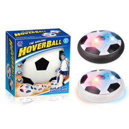 Wholesale toy football games - Kids Toys Hover Soccer Ball Football Changing Colorful LED Light Children Toys Gifts Football Game for Indoor or Outdoor Team