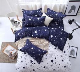 2019 camas baixas baratas MYRU Moderno Padrão de Estrela Menino Menina Adulto Criança Roupas de Cama 4 pcs Conjuntos de Cama Baratos Capa de Cama Folha de Cama Capa de Edredão Fronha camas baixas baratas barato