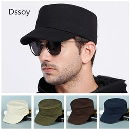 Wholesale Mens Designer Hats Caps - Designer Blank Army Cap Plain Adjustable Cotton Hats For Mens Women Skull Sun Visor Black Navy Beigh Army Green 5 Colors Cusotm Logo