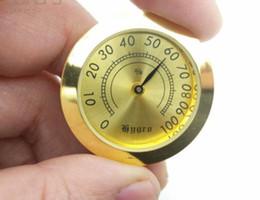 2019 charutos higrômetro Caixa de Charuto Higrômetro de Metal Higrômetro 37mm Pequeno Charuto Higrômetro Bateria Livre charutos higrômetro barato