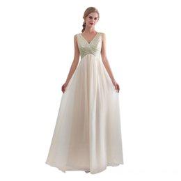 3a3d68a1b7 Real Photos Elegant Women s A-Line Long Sequins Top V-Neck Bridesmaid  Dresses Knee Length Chiffon Maxi Skrit Pleated Wedding Party Dresses