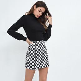 68e11e1a5d2a Classic Plaid Checkered Skirt High Waist Zipper Slim Pencil Skirts Autumn Mini  Saia Fashion office skirt Black Sexy Party Skirts