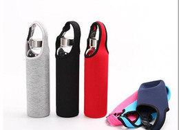 Wholesale protection bottle - 450ml water bottle Neoprene Cotton Bottle Sleeve Carrier holder case For Glass Plastic and Stainless Steel Bottles Protection Insulator Bag