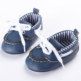 Wholesale Wholesale Cheap Girl Shoes - Genuine Leather Boy Girl Baby Shoes White Newborn First Walker Shoe Kids Lace Up Lovely Sneakers Cheap Black Anti-Slip Prewalker