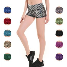 Wholesale Fishing Order - Fish Scales Elastic Waist Shorts New Women's Casual Shorts Woman's Pure Color Plus Size S-4XL FFA027