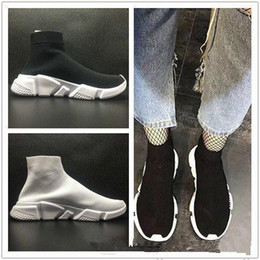 Wholesale floor socks - 2018 frist quality Speed sock high quality Speed Trainer running shoes for men and women sports shoes Speed stretch-knit Mid sneakers ,5-11
