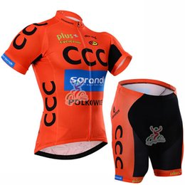 Wholesale Cycling Pro Team Kit - Pro Team CCC Cycling jersey Kit Cycling Short Sleeves jersey (bib) shorts sets Bicycle wear maillot ciclismo