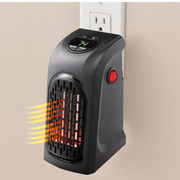 Wholesale plugs outlet - Mini Handy Heater Plug-in Personal Heater Home Use The Wall-outlet Space Heater 350W Hotel Kitchen Bar Bathroom Handy Heaters