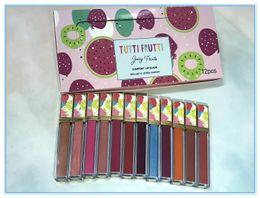 Fruta de veludo on-line-1 PCS / face lip gloss líquido secreto batom set veludo matte lipgloss segredo 12 pçs / set caixa enfrentou frutas lip gloss lip gloss com