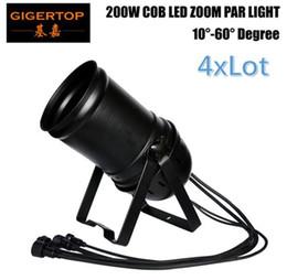 Wholesale 15 degree led - 4xLot New Arrival IMRELAX Linear ZOOM 15 to 50 Degree 200W COB LED Par Light 3200K Warm White Stage Disco Light DMX LED Par