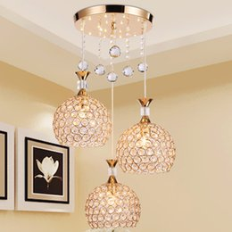 Wholesale Dinning Room Art - New modern LED restaurant crystal chandelier creative dinning living room decoration lighting led pendant dining bar club lamps
