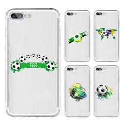 Canada [TongTrade] Étui en silicone souple TPU Couverture pour iPhone X 8 7 6 s 5 s Plus Coupe du monde de football de couleur peinture Galaxy S9 S8 S7 S6 Edge Plus cas Offre